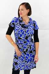 Blue Flower Tunic Top | I Love Tunics | Tunic Tops | Tunic Dresses | Women's Tops | Plus Size Australia | Mature Fashion