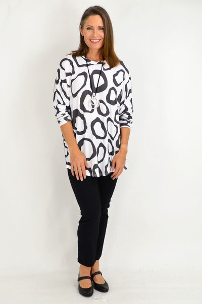 White Grey Leah Tunic Top