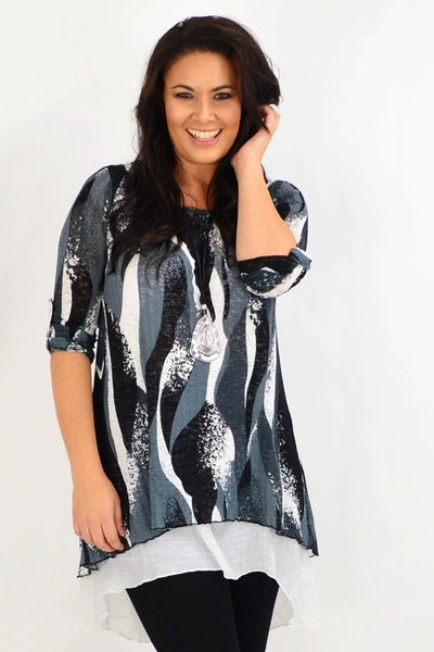 Grey Ruby Swirl Tunic Dress | I Love Tunics | Tunic Tops | Tunic | Tunic Dresses  | womens clothing online