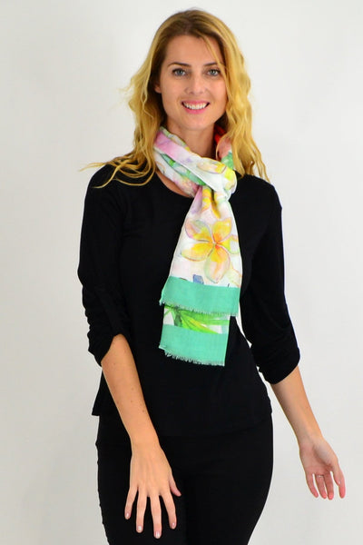 Green Flower Garden Scarf - I Love Tunics
