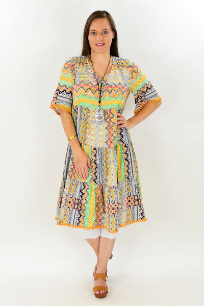 Trudys Tropical Tunic Dress