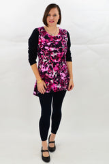 Pink Flower Tunic Top