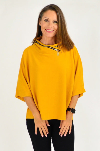 Mustard Eve Relaxed Tunic Jumper