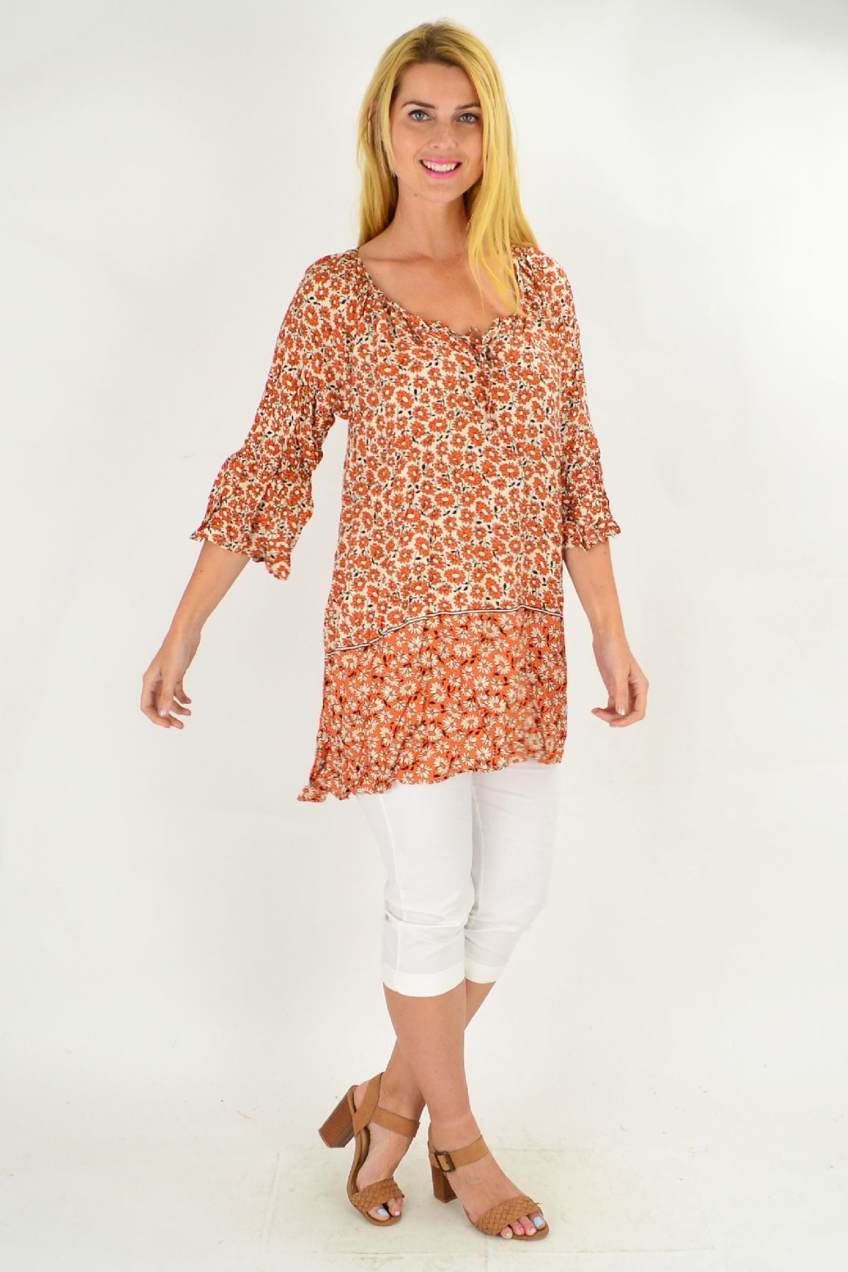 Pink Sunset Tunic Top