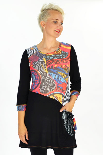 Cave Painting Tunic | I Love Tunics | Tunic Tops | Tunic Dresses | Women's Tops | Plus Size Australia | Mature Fashion