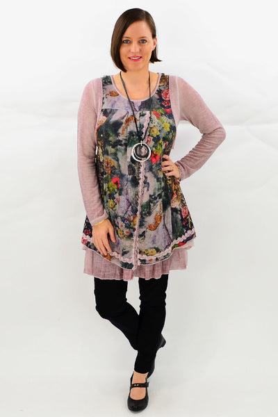 Pink Jungle Tunic Top