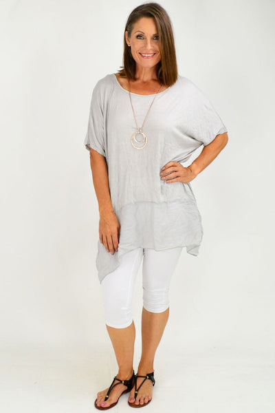 Grey Heron Island Plus Size Tunic