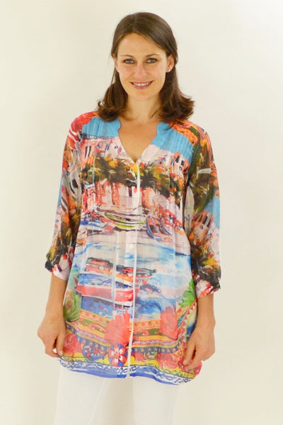 Venice Vista Tunic Shirt - at I Love Tunics @ www.ilovetunics.com = Number One! Tunics Destination