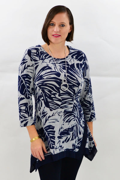 Rosemarys Palm Tunic Top