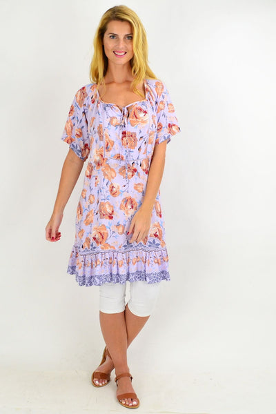 Lilac Rose Flowy Tunic Dress