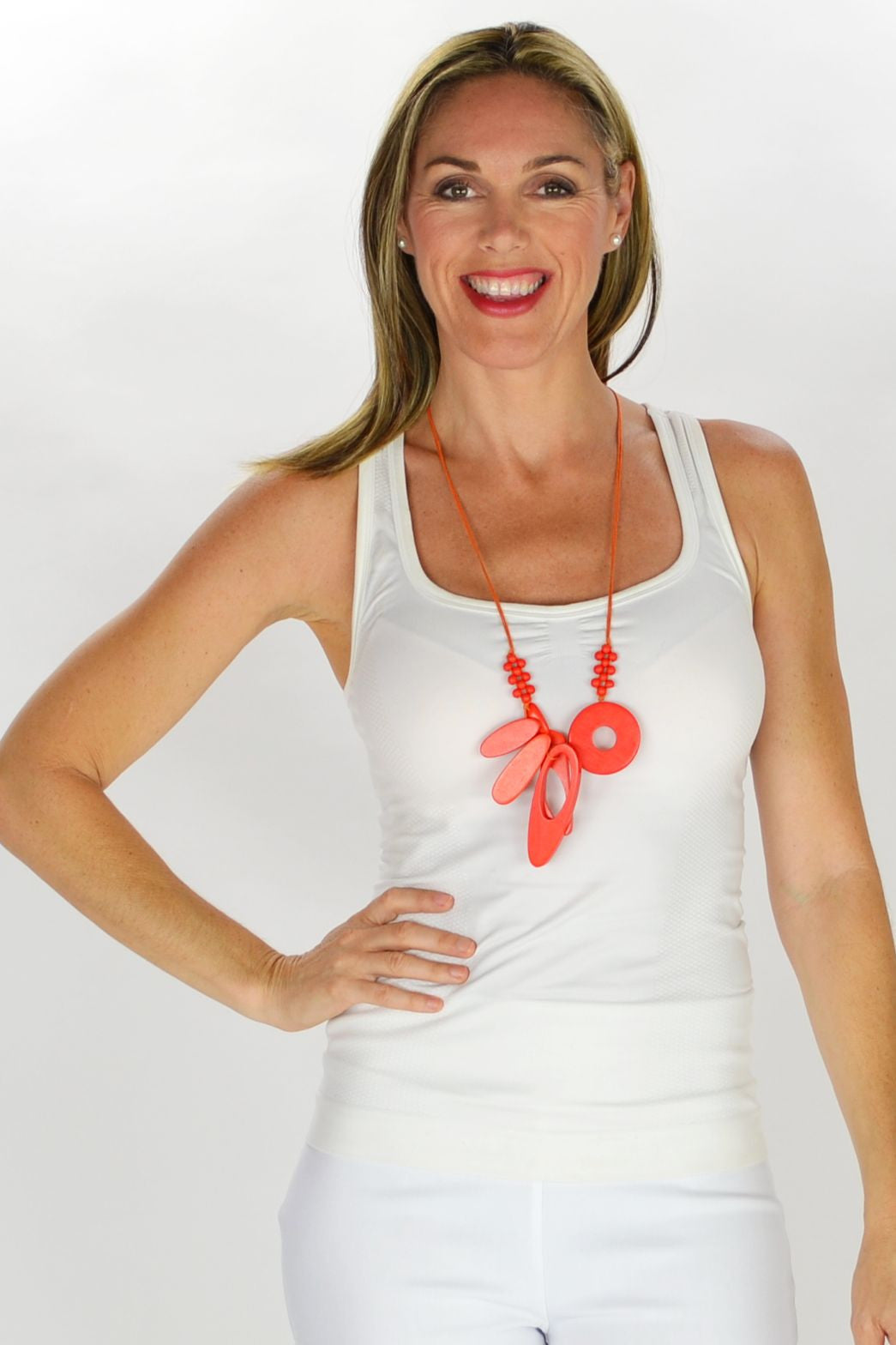 Debbies Orange Necklace - at I Love Tunics @ www.ilovetunics.com = Number One! Tunics Destination