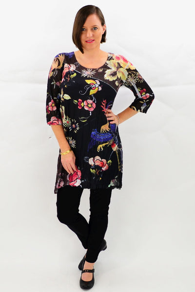 Frans Flower Garden Tunic Top