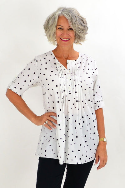 White Bessie Tunic Shirt | I Love Tunics | Tunic Tops | Tunic | Tunic Dresses  | womens clothing online