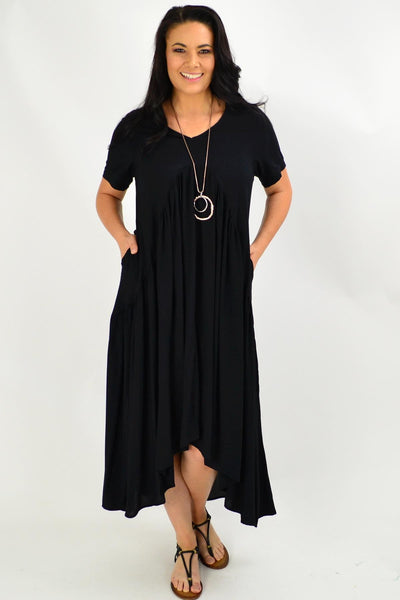 Black Maxi Tunic Dress | I Love Tunics | Tunic Tops | Tunic | Tunic Dresses  | womens clothing online