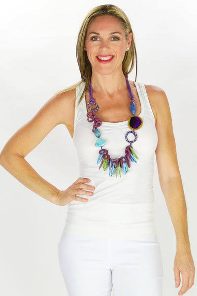 Pollys Purple Necklace