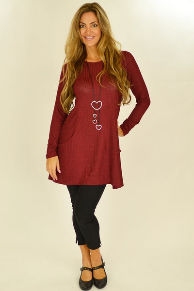 Red Lucy Line Tunic