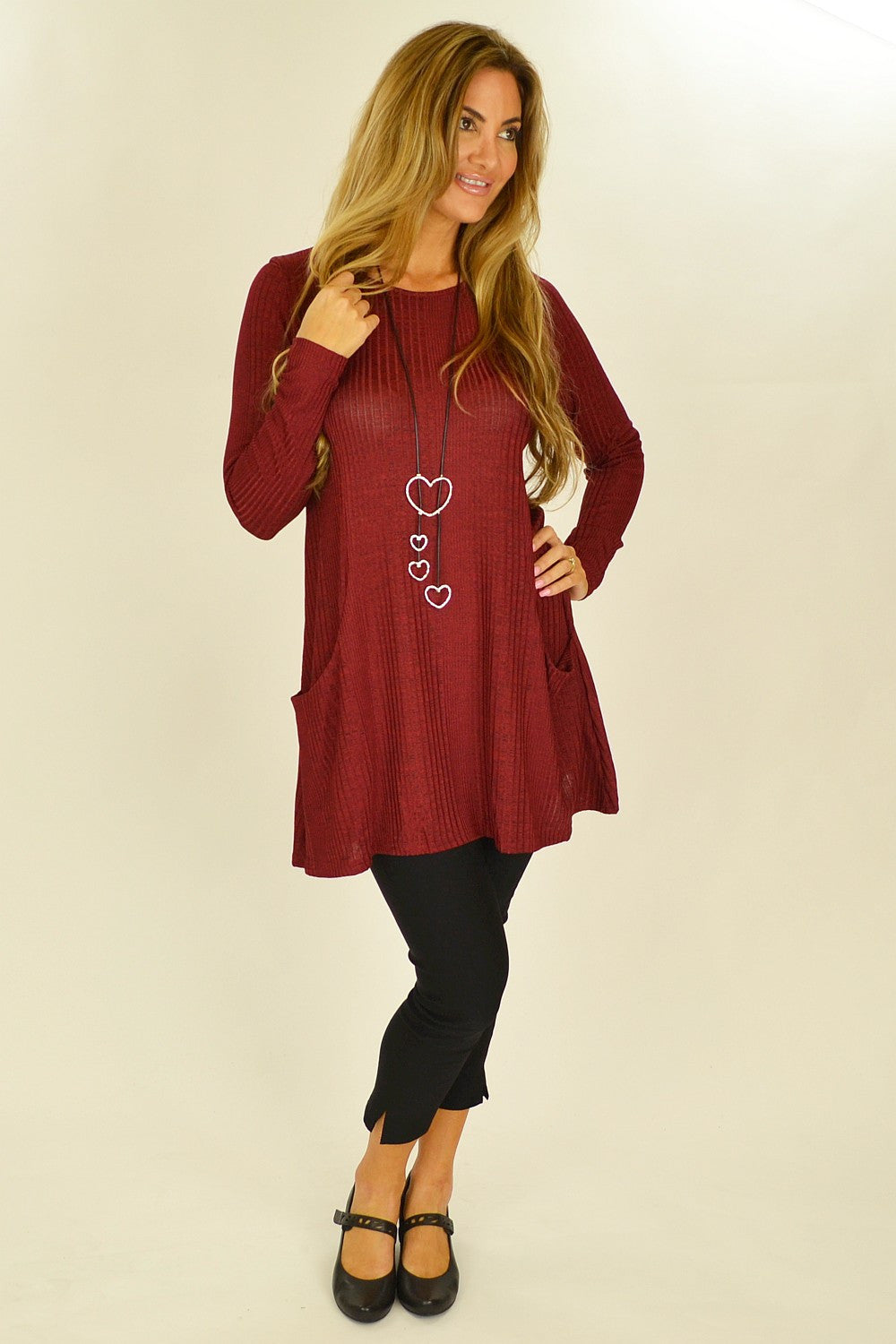 Red Lucy Line Tunic - at I Love Tunics @ www.ilovetunics.com = Number One! Tunics Destination