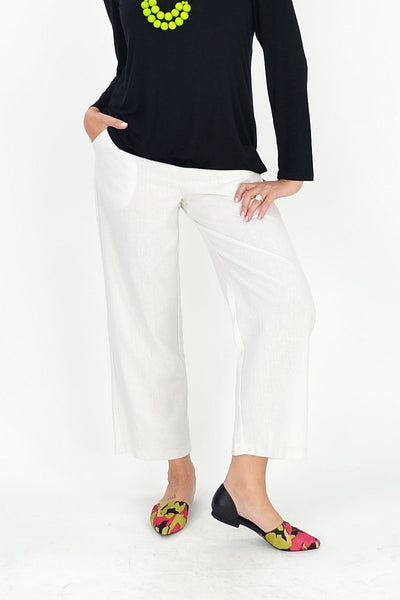 White Linen Cotton Pants