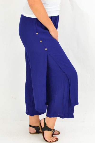 Blue Double Layer Pants