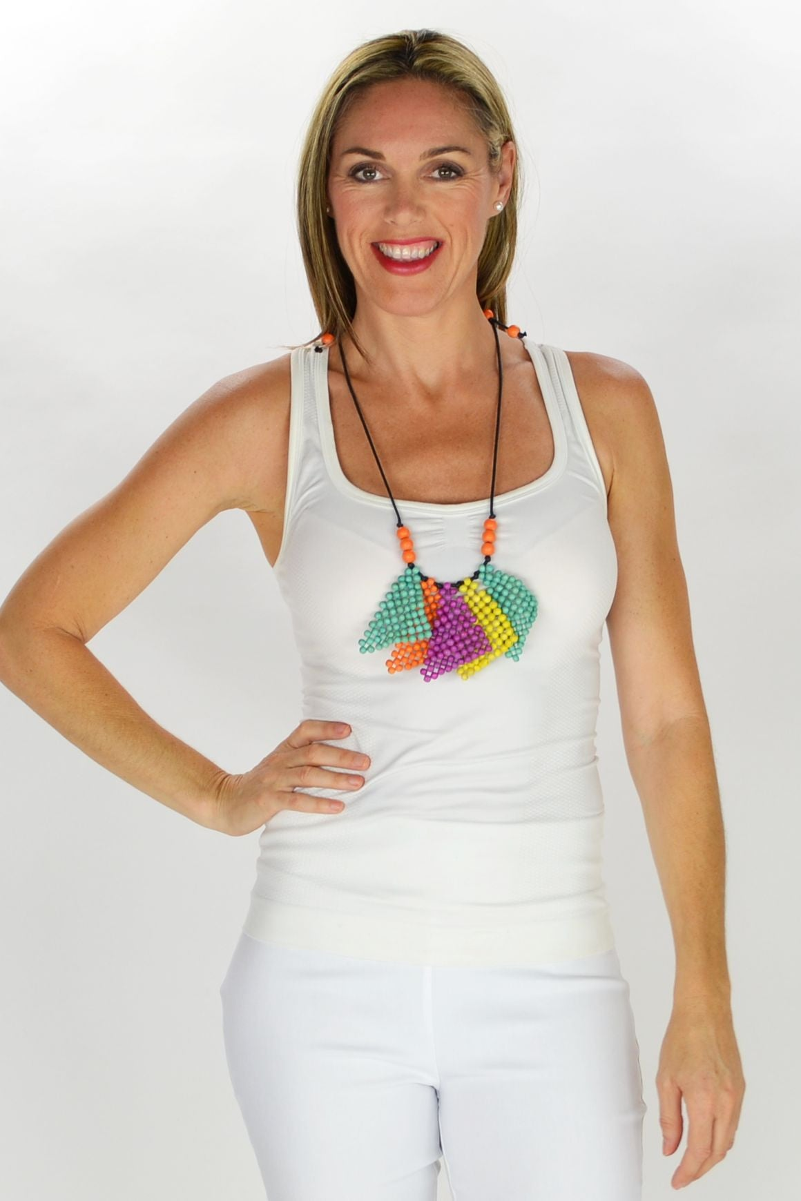 Colourful Triangles Necklace | I Love Tunics | Tunic Tops | Tunic | Tunic Dresses  | womens clothing online