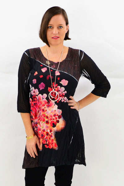 Blooming Poppy Tunic Top | I Love Tunics | Tunic Tops | Tunic Dresses | Women's Tops | Plus Size Australia | Mature Fashion