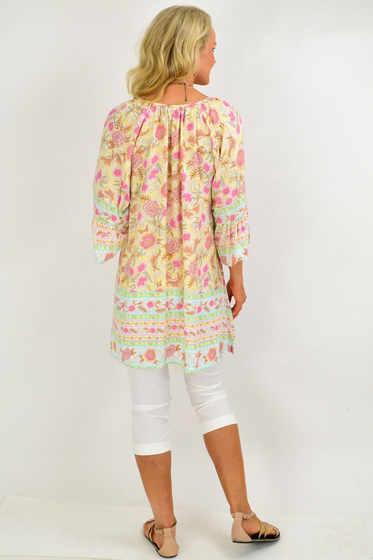Yellow Floral Light & Pretty Tunic Top | I Love Tunics | Tunic Tops | Tunic | Tunic Dresses  | womens clothing online