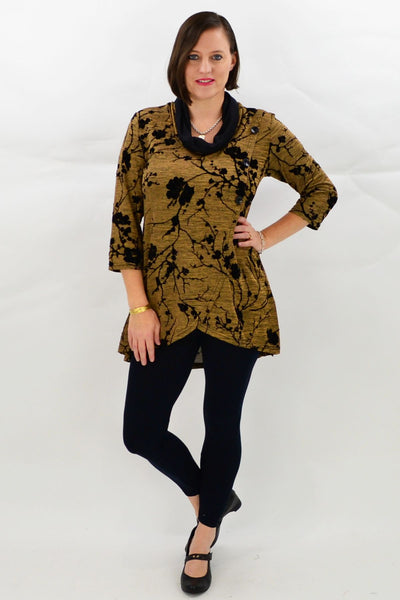 Gold Cherry Blossom Tunic