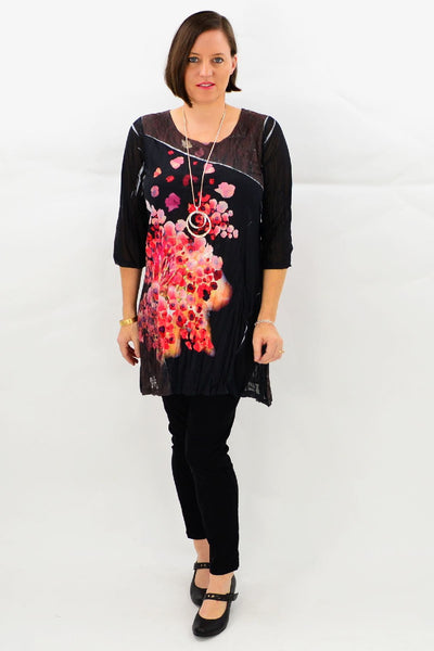 Blooming Poppy Tunic Top