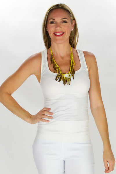 Yellow Tribal Necklace - at I Love Tunics @ www.ilovetunics.com = Number One! Tunics Destination