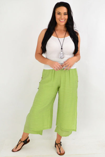 Green Double Layer Pants | I Love Tunics | Tunic Tops | Tunic | Tunic Dresses  | womens clothing online