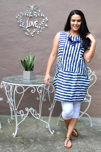 Navy Essential Stripe Bubble Tunic Dress | I Love Tunics | Tunic Tops | Tunic | Tunic Dresses  | womens clothing online