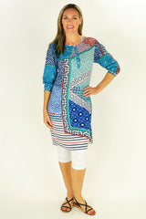 Picasso Tunic Dress by Orientique - at I Love Tunics @ www.ilovetunics.com = Number One! Tunics Destination