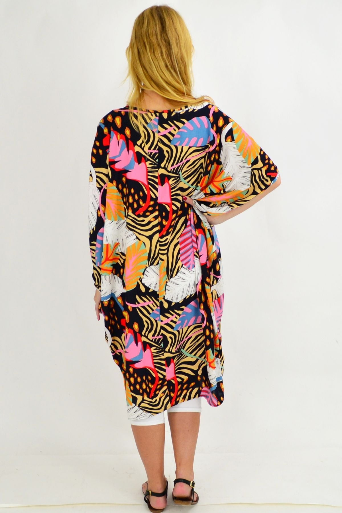 Paradise Palm Relaxed Cocoon Tunic Dress | I Love Tunics | Tunic Tops | Tunic Dresses | Women's Tops | Plus Size Australia | Mature Fashion