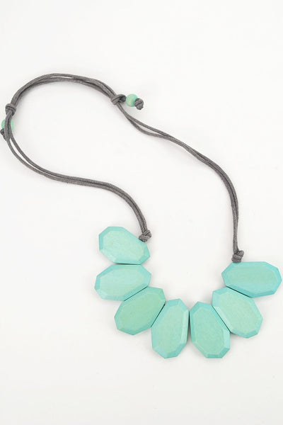 Aqua Diamond Necklace - at I Love Tunics @ www.ilovetunics.com = Number One! Tunics Destination