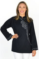 Chinese Collar Tunic | I Love Tunics | Tunic Tops | Tunic Dresses | Women's Tops | Plus Size Australia | Mature Fashion