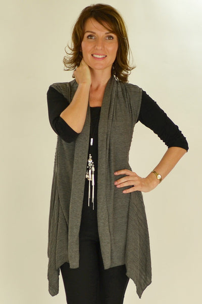 Grey Nicole Vest - at I Love Tunics @ www.ilovetunics.com = Number One! Tunics Destination