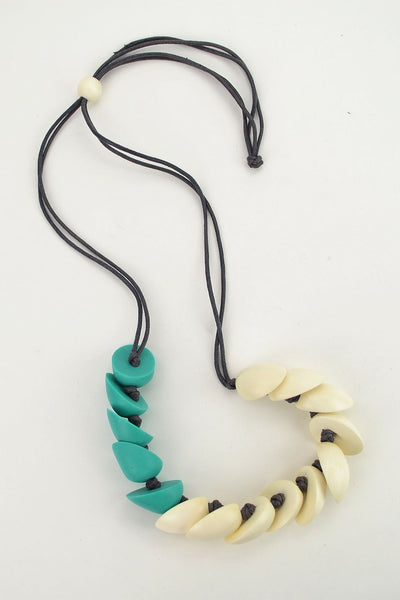 Aqua Poppy Necklace - at I Love Tunics @ www.ilovetunics.com = Number One! Tunics Destination
