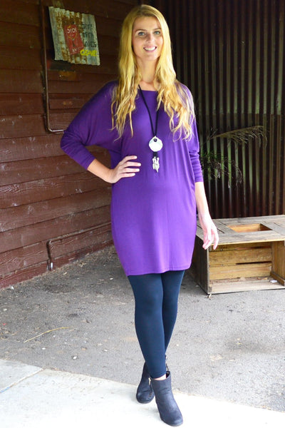 Purple Wanda Tunic | I Love Tunics | Tunic Tops | Tunic Dresses | Women's Tops | Plus Size Australia | Mature Fashion