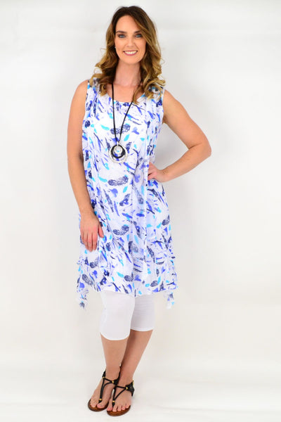 Blue Sparrow Feather Tunic