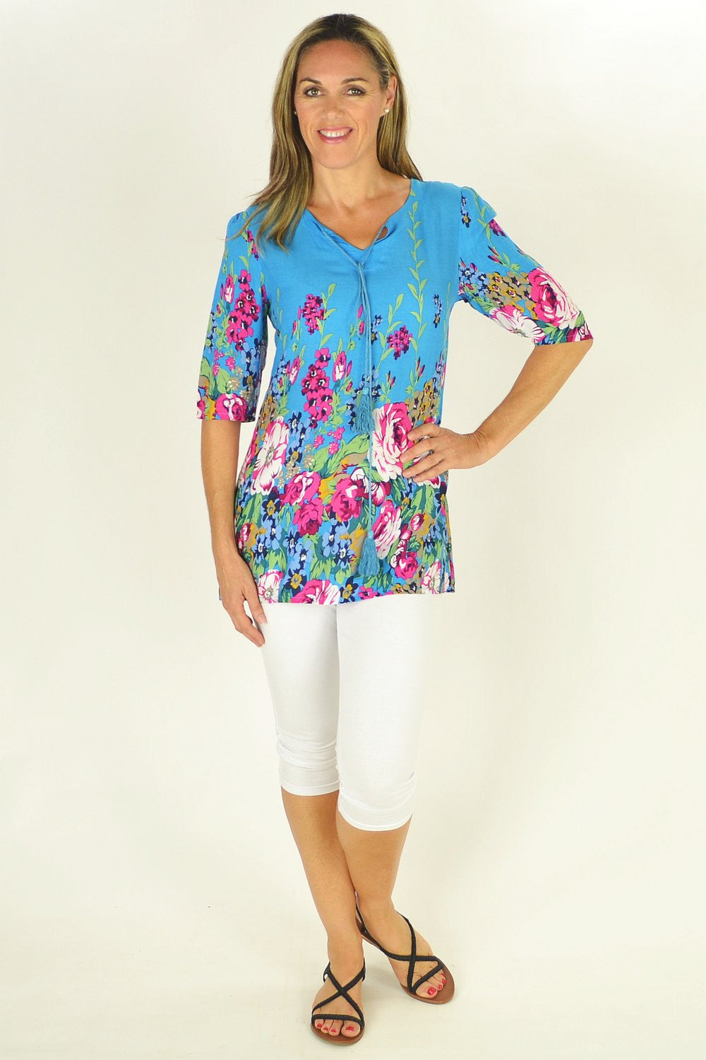 Blue Flowers in the Meadow Tunic | I Love Tunics | Tunic Tops | Tunic | Tunic Dresses  | womens clothing online