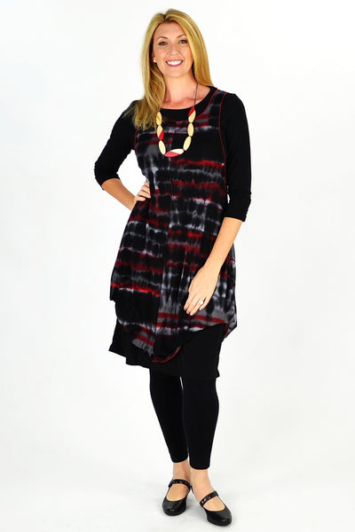 Black Maggie Tunic Top