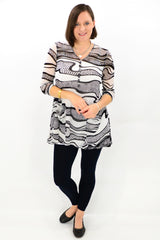 Model wearing Mesh Tunic Top. Buy tunics tops online at ilovetunics.com