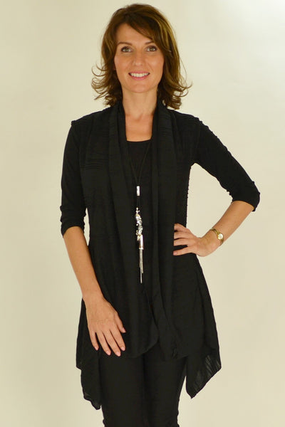 Black Nicole Vest - at I Love Tunics @ www.ilovetunics.com = Number One! Tunics Destination