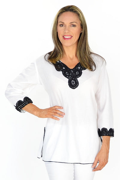 White Gaby Tunic | I Love Tunics | Tunic Tops | Tunic | Tunic Dresses  | womens clothing online