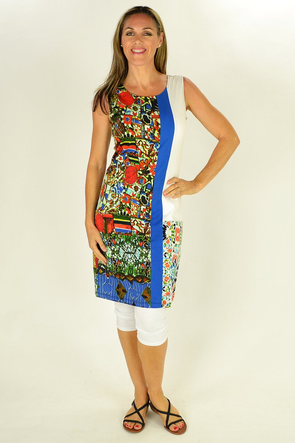 Abstract Garden Tunic | I Love Tunics | Tunic Tops | Tunic Dresses | Women's Tops | Plus Size Australia | Mature Fashion
