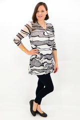zebra pattern mesh tunic top by i love tunics
