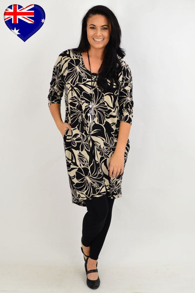 Floral Delight Hi Low Tunic Dress | I Love Tunics | Tunic Tops | Tunic | Tunic Dresses  | womens clothing online