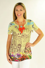 Birds of Paris Tunic - at I Love Tunics @ www.ilovetunics.com = Number One! Tunics Destination