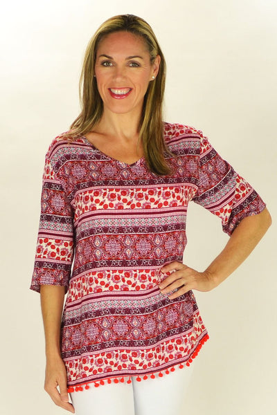 Relaxed Ruby Tunic