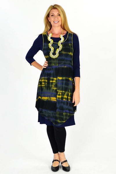 Navy Maggie Tunic Top